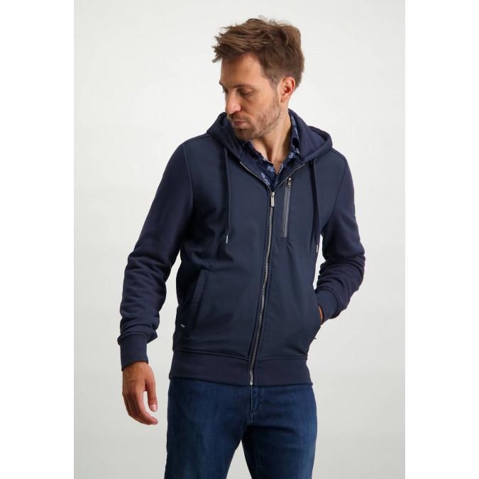 Hooded-sweatshirt---dark-blue-plain