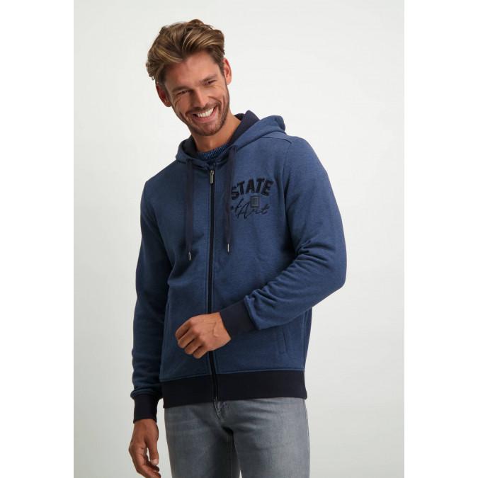 Sweatshirt-with-artwork-on-the-sleeve---grey-blue/midnight