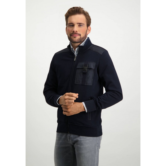 Regular-fit-sweatshirt---dark-blue-plain