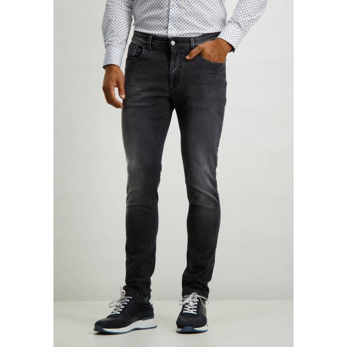 Stretch-jeans-in-grey-denim---dark-anthracite-plain