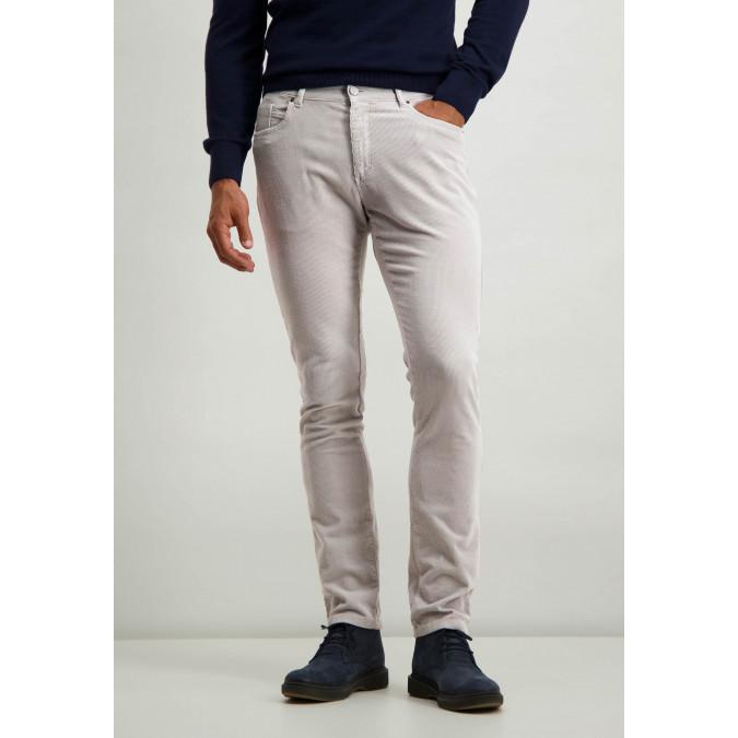 Corduroy-stretch-trousers-in-cotton---silvergrey-plain