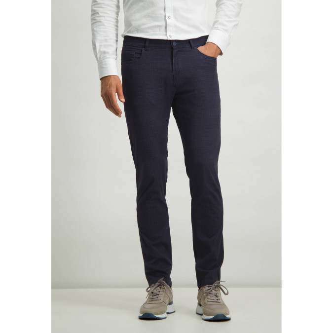Stretch-trousers-with-digital-print---midnight/cobalt