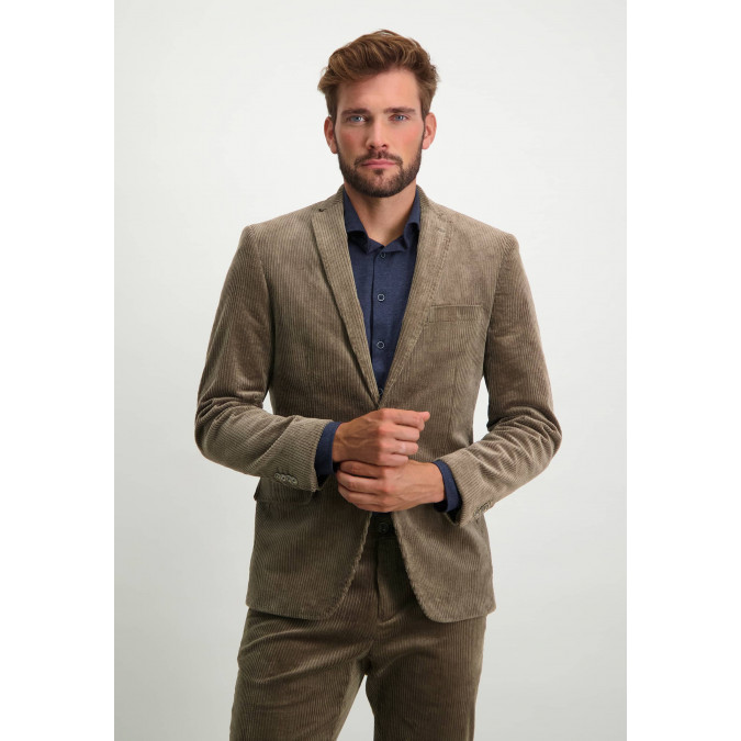 Corduroy-blazer-with-chest-pocket---sepia-plain
