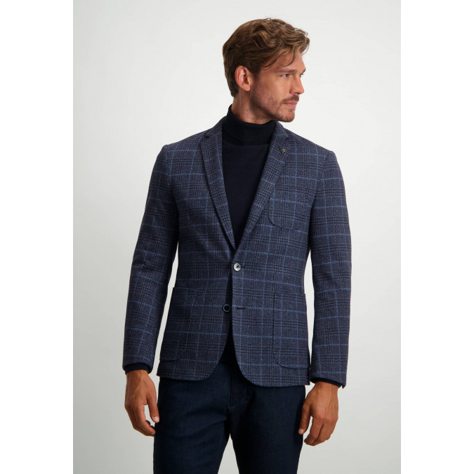 Blazer-with-checked-pattern-and-modern-fit---midnight/cobalt