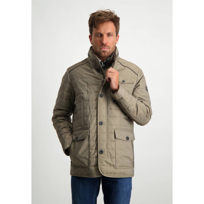 Quilted-jacket-with-artwork-on-the-sleeve---sepia-plain