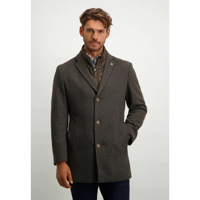 Striped-long-jacket-with-button-closure---dark-anthracite/silvergrey