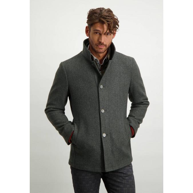 Modern-fit-jacket-medium-length---dark-anthracite-plain
