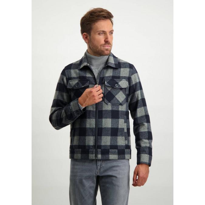 Short-jacket-with-flap-pockets---dark-blue/silvergrey