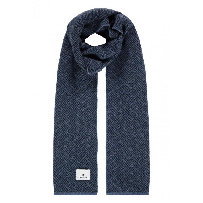 Lambswool-blend-scarf---cobalt/midnight
