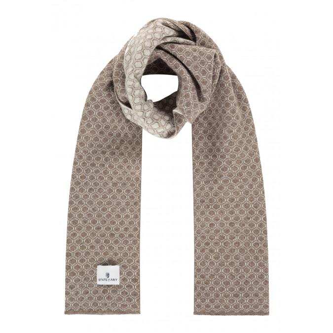 Jacquard-sjaal-van-een-lamswol-mix---sepia/kit