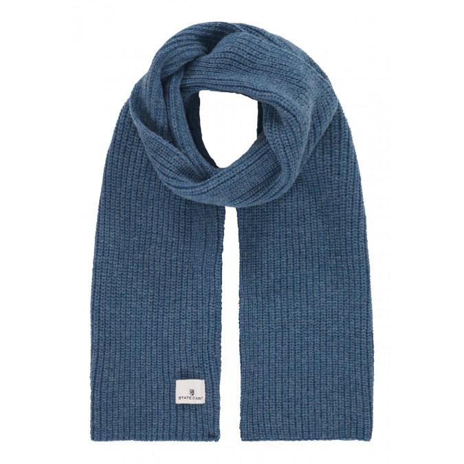 Sjaal-in-patentsteek---grijsblauw-uni