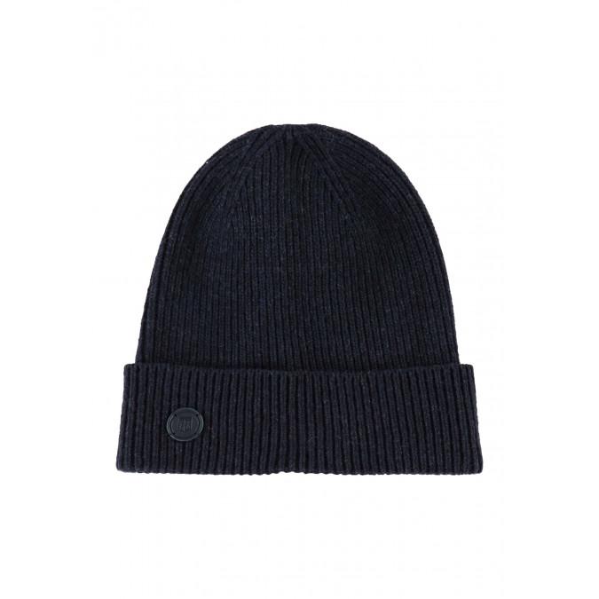 Lambswool-blend-hat---dark-blue-plain