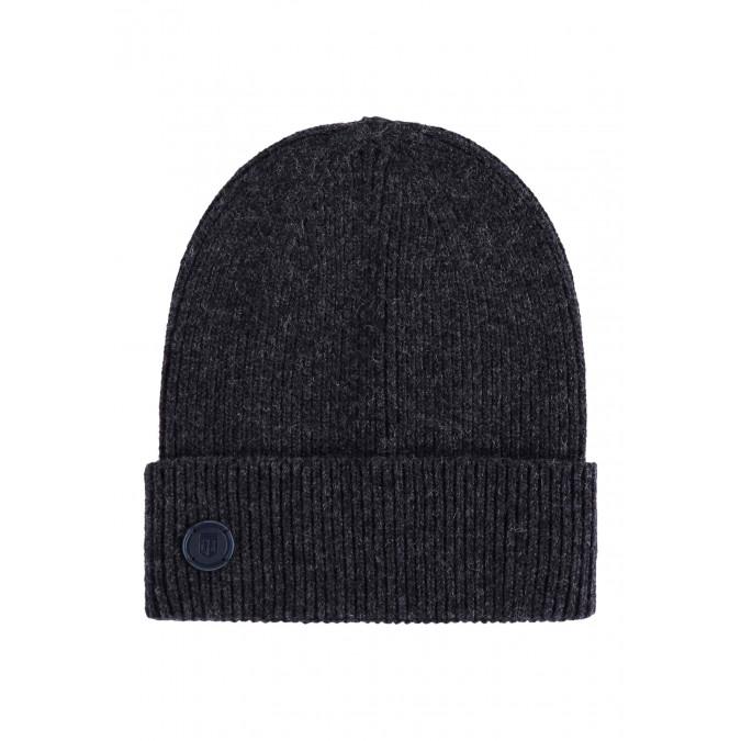 Lambswool-blend-hat---dark-anthracite-plain