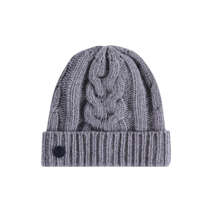 Lambswool-blend-cable-knit-hat---silvergrey-plain