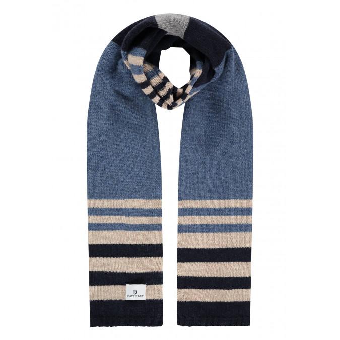 Lambswool-striped-scarf---cobalt/midnight