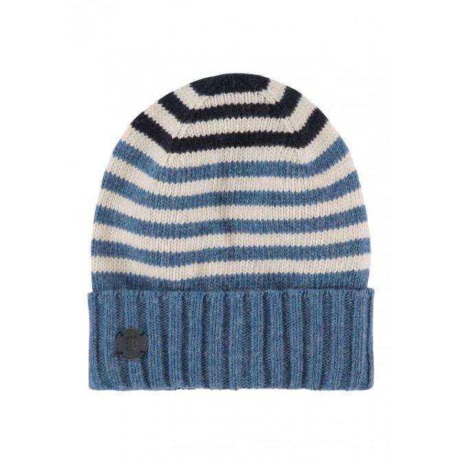 Striped-lambswool-hat---grey-blue/cream