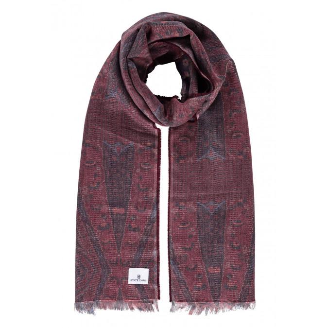 Short-fringed-scarf---brick/midnight