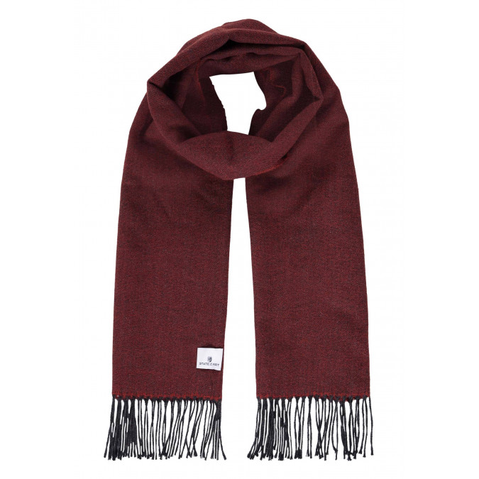 Plain-scarf-with-long-tassels---brick/charcoal