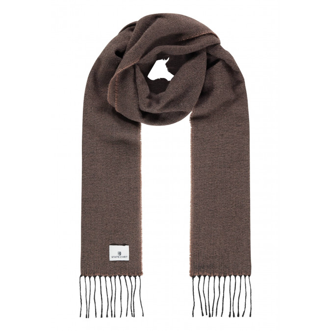 Plain-scarf-with-long-tassels---sepia/charcoal