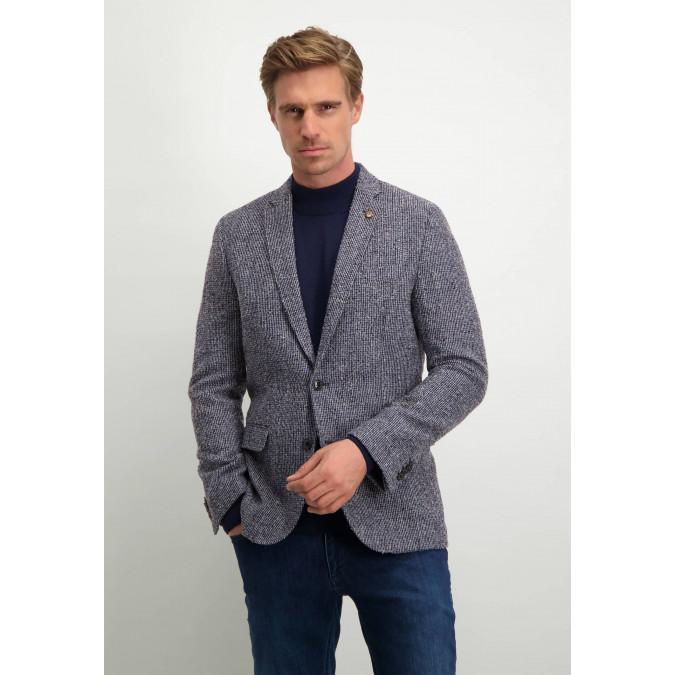 Modern-Classics-blazer-with-chequered-motif---dark-blue/silvergrey