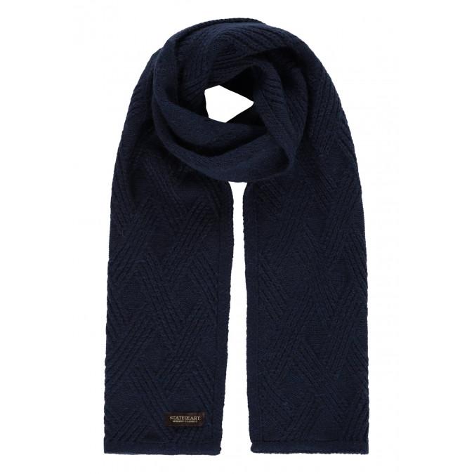 Modern-Classics-scarf-in-structure-knit---dark-blue-plain
