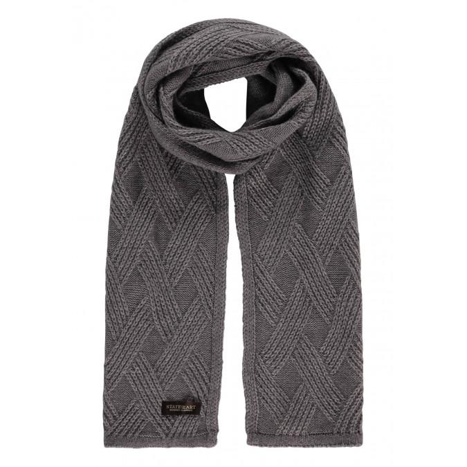 Modern-Classics-scarf-in-structure-knit---silvergrey-plain