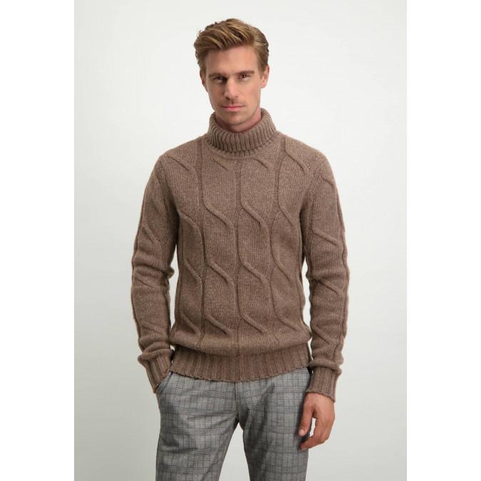 Modern-Classics-cable-knit-turtle-neck---sepia-plain