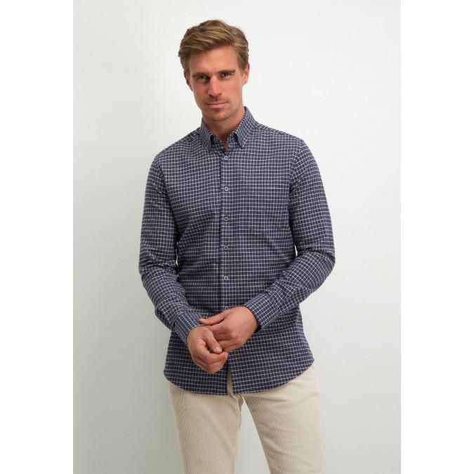 Modern-Classics-flannel-shirt---dark-blue/white