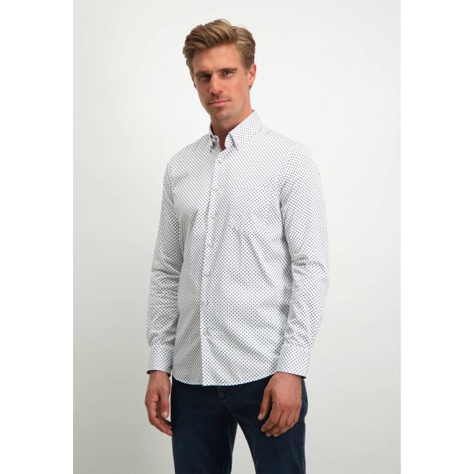 Modern-Classics-shirt-made-of-organic-cotton---white/cobalt