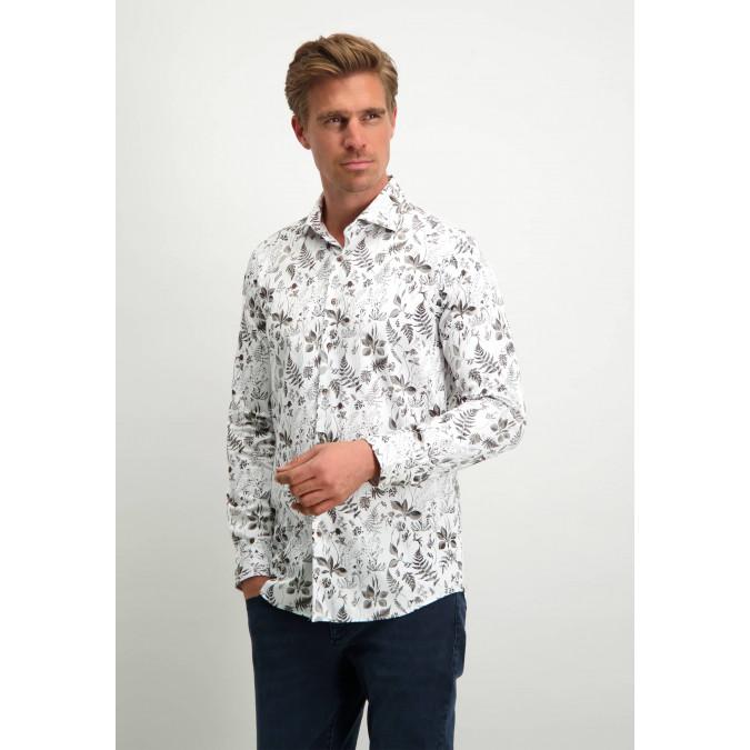 Modern-Classics-shirt-with-botanical-print---white/silver-grey