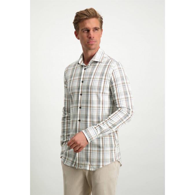 Modern-Classics-shirt-with-cut-away-collar---silver-grey/cognac