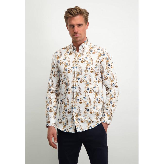 Modern-Classics-shirt-with-floral-print---cognac/midnight