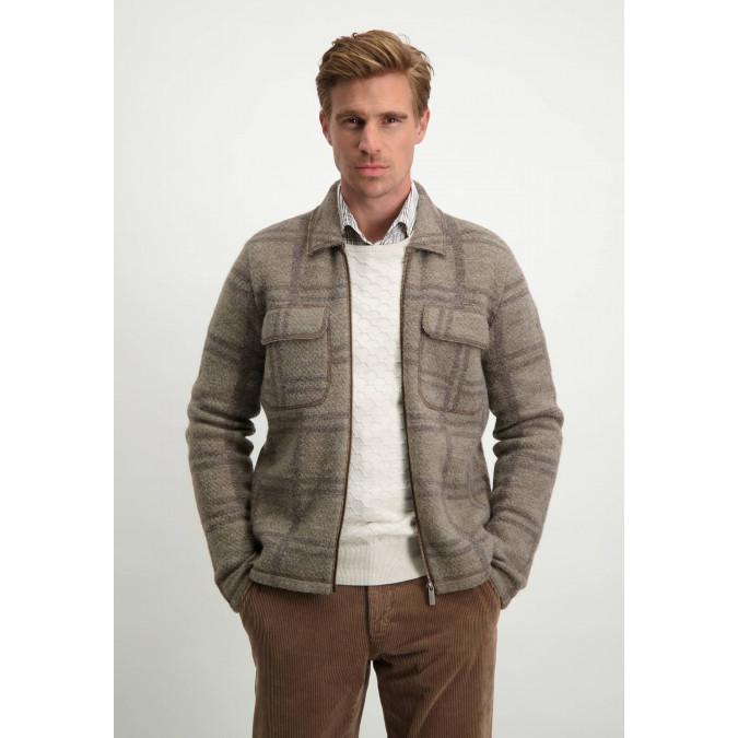 Modern-Classics-cardigan-in-over-shirt-style---sepia/dark-brown