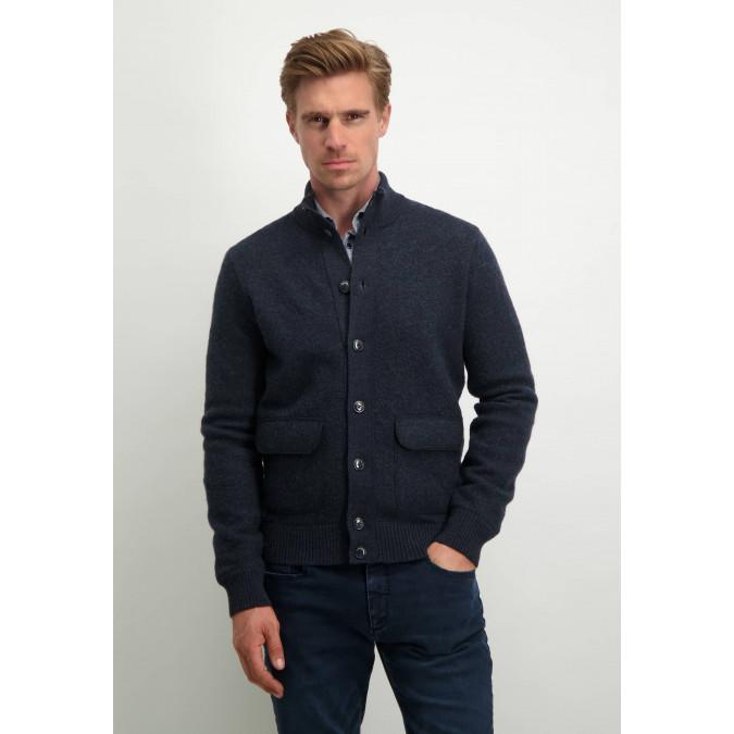 Modern-Classics-cardigan-with-button-closure---dark-blue-plain