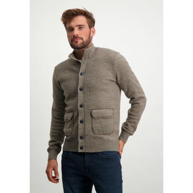 Modern-Classics-cardigan-with-button-closure---sepia-plain
