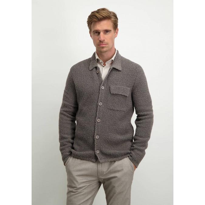 Modern-Classics-vest-in-overshirt-stijl---sepia/donkerantraciet