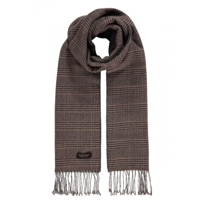 Modern-Classics-fringed-scarf---sepia/charcoal