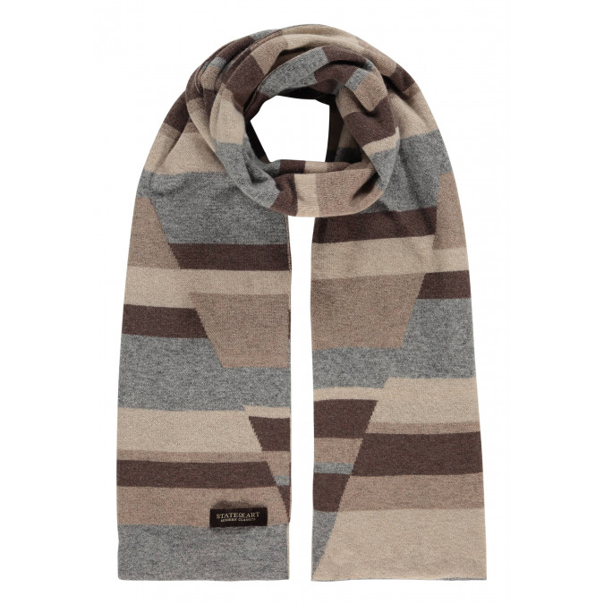 Modern-Classics-striped-scarf-in-wool---silver-grey/off-white