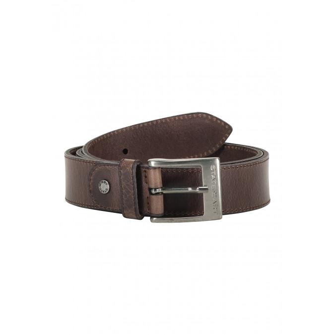 Belt-of-buffalo-leather---dark-brown-plain