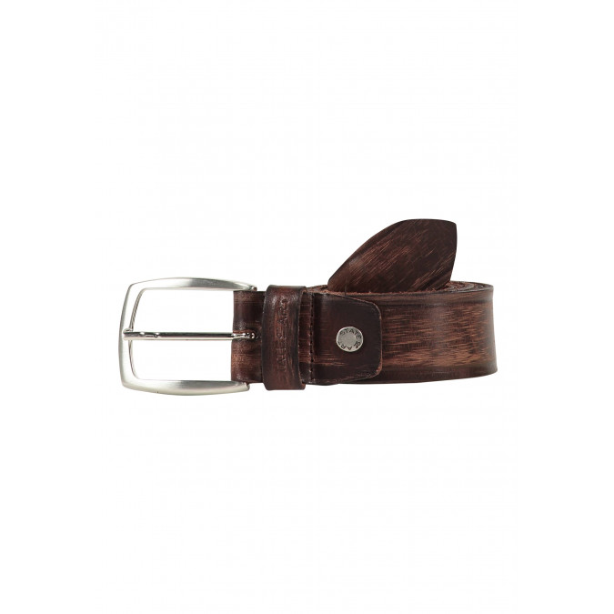Belt-with-a-nickel-free-buckle---dark-brown-plain