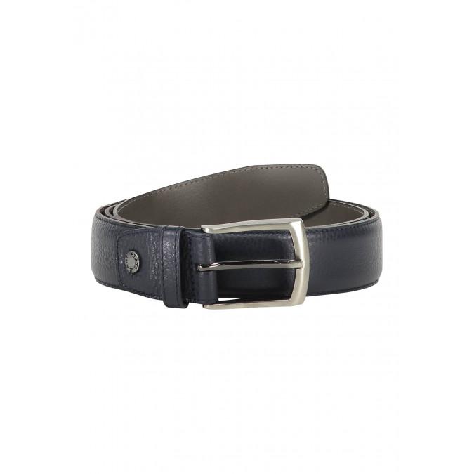 Belt-completely-handmade---dark-blue-plain