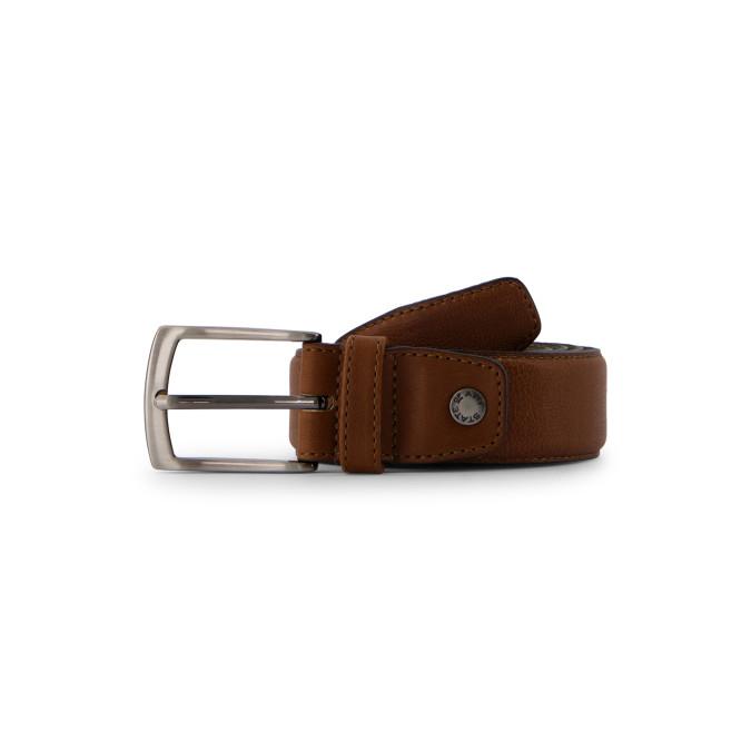 Belt-completely-handmade---cognac-plain