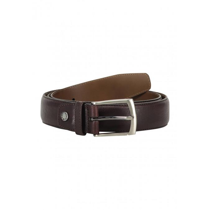 Belt-completely-handmade---dark-brown-plain