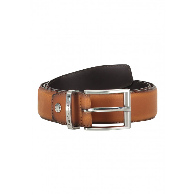 Belt-of-ranger-leather---cognac-plain