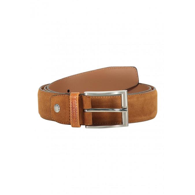 Suede-belt-completely-handmade---cognac-plain