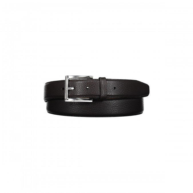 Leather-belt-with-a-nickel-free-buckle---dark-brown-plain