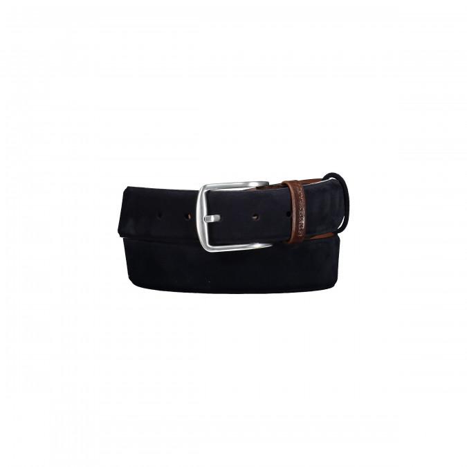 Belt-made-of-leather---dark-blue-plain