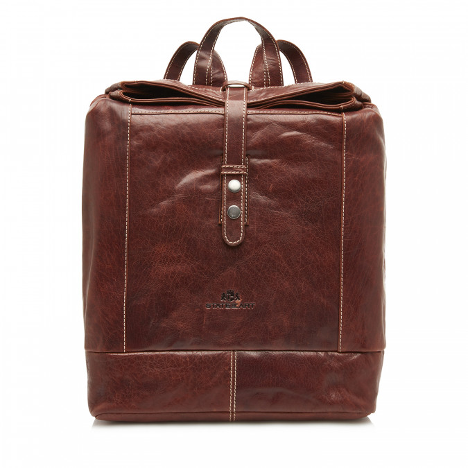 Back-Pack-of-Buffalo-Leather---dark-brown-plain