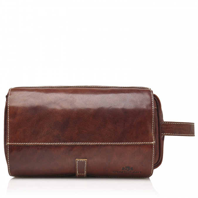 Vanity-Bag-of-Buffalo-Leather---dark-brown-plain