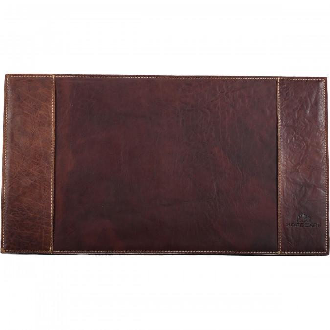 Desk-Pad-Small---dark-brown-plain